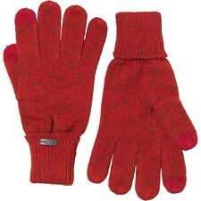 Brand New Firetrap Mens Red Twist Yam Touch Screen Gloves