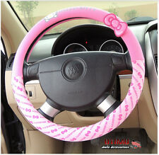 Car Styling Hello Kitty Car Steering Wheel Cover Cartoon Interior Accessories 2