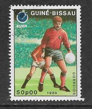 GUINEA BISSAU POSTAL ISSUE - USED COMMEMORATIVE STAMP 1988 EUROPEAN FOOTBALL