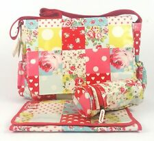** WEEKEND SALE***Cath Kidston Oilcloth Nappy Changing Bag- Patchwork -GIFT