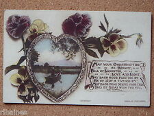 R&L Postcard: Christmas Love Heart/Loveheart, Poem by Ada Chappell