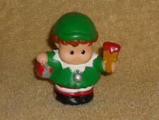 Fisher Price Little People Christmas Santa Helper Elf in Green Red Paint #3
