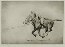 """Horse racing etching by Edward King, """"Heres to You"""", pencil signed"""