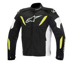 Alpinestars Textile T-Gp R Motorbike jacket Black/White/Fluo Hi-viz - waterproof