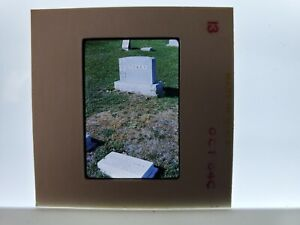 KodaChrome Photographic Slide Headstone With The Name Towey On It