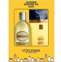NEW L'Occitane Almond Shower Oil Duo Delicious Powerful Hydrating Free Post