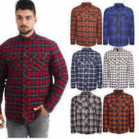 River Road Mens Padded Quilted Lined Lumberjack Shirt  Work Flannel Jacket
