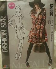 M6600 McCall's Plus Women's NBC Fashion Star Easy Sewing Patterns Sizes 6-14