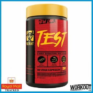 Mutant TEST 90 Caps Testosterone Booster Muscle Growth Strength Gains