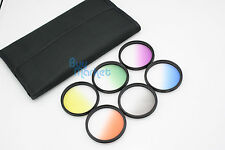 58mm Graduated Orange,Blue,Grey,Green,Purple,Yellow 6 color Filter Set with CASE