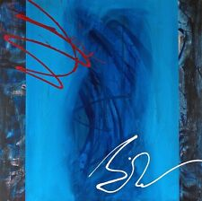 """Magnífico Original Rob Van heertum """"Azul sin"""" Pintura Abstracta"""