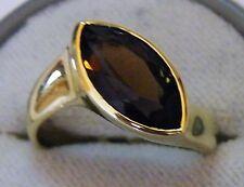 Gold 14K 585 Ring mit Rauchquarz