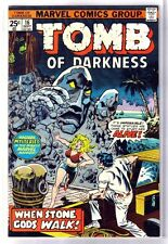 TOMB of DARKNESS #16 When Stone Gods Walk! Marvel Comic Book ~ FN