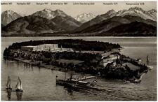 1957 Stempel TEISENDORF AKHerreninsel Chiemsee Schloß Berge Segelboote Schiff