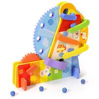 Wooden Hand Spinning Ferris Wheel Marble Run Circle  Kids Children Toy UK STOCK