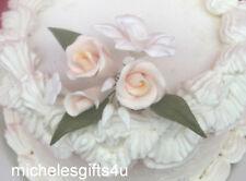Sugar Gum Paste White Orchid Ivory Rose &  Stephanotis Flowers Cake Decorating