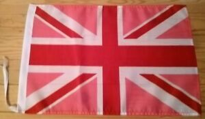 "PINK UNION JACK FLAG - 45cm x 30cm - 18"" x 12"""