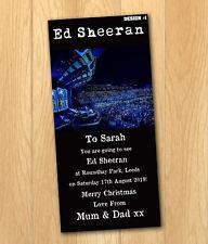 Ed Sheeran 2019 Carte Cadeau Cadeau Noël Ticket avec enveloppe