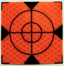 Orange Reflective Targets/Labels (10 No) - 40mm x 40mm