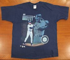 Ken Griffey Jr. Seattle Mariners vtg tee XL/XXL navy blue 90s 1996 MLB baseball