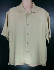 Cubavera Cream Shirt Short Sleeves Newport Beach Country Club Mens Sz Large