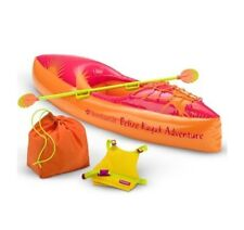NEW American Girl Doll JESS KAYAK & GEAR Boat Life Jacket Bag Paddle Oar AG Box!