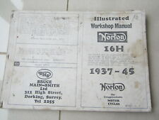 1937-1945 Norton 16H 490cc Copy  Workshop instruction classic bike Manual