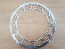"""Vintage   mantel clock dial face chapter spares repairs parts approx 5"""""""