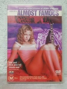 Almost Famous DVD Kate Hudson 60'S Music Themed Movie REGION 4