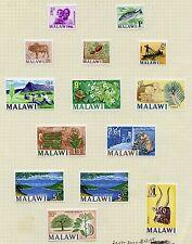 Weeda Malawi 5-17, 26 Complete first definitive set CV $26.70