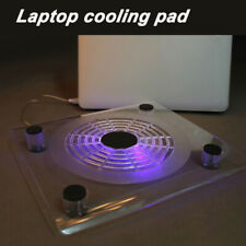 """10""""-15"""" Laptop Cooling Pad Blue LED Notebook 1 Fan USB Cooler Stand Tray"""