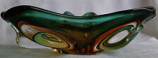 Vtg 1950s 1960s Murano Italy cased art glass coffee table ashtray bowl mcm