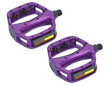 "BMX FIXIE PLATFORM PEDALS VP Purple 9/16"" Alloy Pedals 9/16 with reflectors NEW"