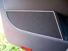 D VW Golf 5 Chrome Cadre Pour Haut-parleur bas-Acier inoxydable poli