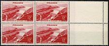France 1948 BARRAGE de GENISSIAT   Bloc de 4 n° 817 neuf ★★ Luxe / MNH BDF