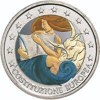 Italien 2 Euro 2005 Unterzeichnung der Verfassung bankfrische Münze in Farbe