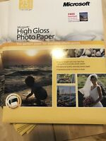 "LOT OF 10 Packs MICROSOFT 8.5"" x 11"" HIGH GLOSS PHOTO PRINTER PAPER (250 SHEETS)"