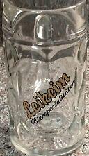 Tall German Beer Glass W/LEIKEIM BIERSPEZIALITATEN written across