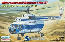 Eastern Express 14505 Multipurpose Helicopter Mi-8T Scale Model Kit 1/144 New