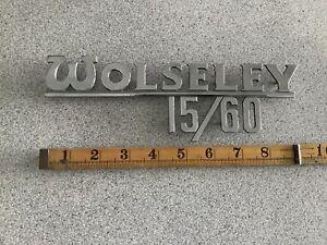 WOLSELEY RARE 1960s. WOLSELEY 15/60 GENUINE J'FRAY CHROME BOOT BADGE!!! EC.