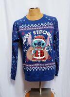 Disney Merry Stitchmas Light Up Sweatshirt L 11/13 Milo Stitch Christmas Sweater
