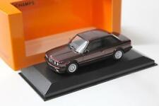 BMW 3er E30 1989 dunkelrot Metallic Modellauto 1 43 Maxichamps