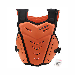 PULSE RENEGADE ORANGE MOTOCROSS MX ENDURO BMX MTB CHEST BACK PROTECTOR