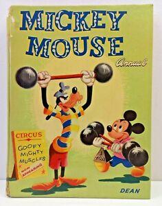 Mickey Mouse Annual 1955 Dean & Son Walt Disney Vintage Collectable Book