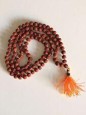 RUDRAKSHA RUDRAKSH MALA JAPA ROSARY 108 +1 BEAD YOGA HINDU PRAYER MEDITATION