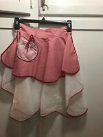 Vintage Sheer  Tie Back Half Waist Apron Christmas/Valentine theme  Sexy Short