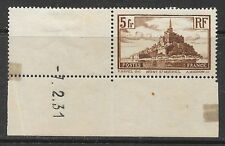 "Francia 1931 5fr MONT SAINT MICHEL ""MEDAGLIA data"" 7.2.31, VF Mint Hinged SG 473A"
