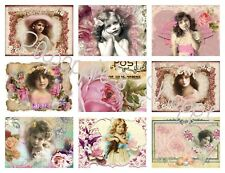 Victorian Fabric Blocks Set of 9 Women Lovely Chic Shabby Whimsy Dust