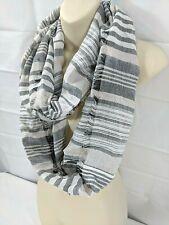 AEROPOSTALE wms/jrs gray white print infinity scarf One Size NWT