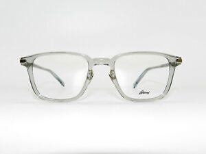 Authentic BRIONI EYEWEAR Silver Crystal Rectangular Eyeglass BR0057O - 004 52mm